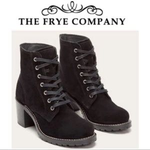 🖤⚡️Women's FRYE Sabrina black suede boots lace up